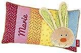 Sigikid 40991 - Babykissen Rainbow Rabbit mit Namen beschriftet