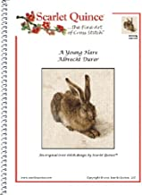 Scarlet Quince DUR002lg A Young Hare by Albrecht Durer Counted Cross Stitch Chart, Large Size Symbols