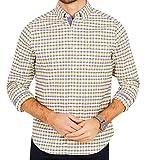 Nautica Mens Oxford Plaid Button Up Shirt, Yellow, XXX-Large