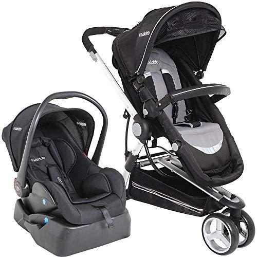 Carrinho Para Bebê Compass II Reversível Preto 0 até 13kg - Kiddo