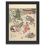 Printed Paintings Marco Americano (70x100cm): Ishikawa Toyomasa - Inari-Koel Segundo Mes