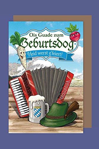 Bayern Geburtstag Geburtsdog Karte Grußkarte Humor Bierkrug 16x11cm