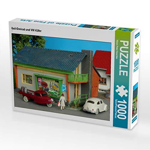 CALVENDO Puzzle Goli-Dreirad und VW Käfer 1000 Teile Lege-Größe 64 x 48 cm Foto-Puzzle Bild von Peter Huschka