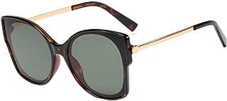 Aiweijia Women's Fashion Sunglasses Vintage Cat Eye Resin Full-Frame Ocean Piece Lens Eyewear