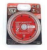 DEKTON DT80470 - Disco de corte para baldosas de diamante (4,5 pulgadas, 240 V), color negro y rojo