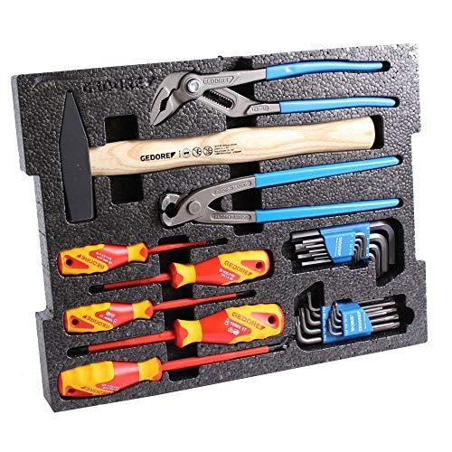 Gedore Werkzeug-Basic-Set 26-tlg mit VDE Schraubendrehern, Zangen und mehr OHNE L-BOXX