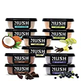 MUSH Overnight Oats Healthy Breakfast, Gluten-Free, Non-GMO, Dairy Free, Protein Rich, No Sugar, 10 Pack Oatmeal Cups, Blueberry, Vanilla Bean, Dark Chocolate, Coffee Coconut , Apple Cinnamon