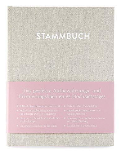 GLÃœCK & SEGEN ALLES MIT LIEBE Modernes Stammbuch der Familie A5, Familienstammbuch Paul (Cremebeige)