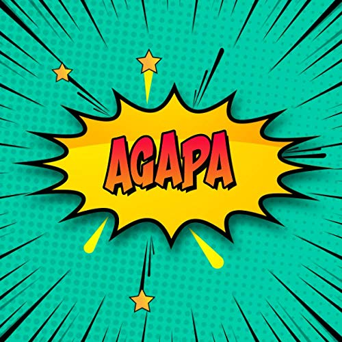 Agapa: Draw Your Own Comic Super Hero Adventures with this Personalized Vintage Theme Birthday Gift Pop Art Blank Comic Storyboard Book for Agapa   150 pages with variety of templates