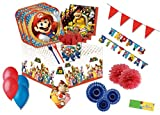 decorata party kit n 62 addobbi compleanno super mario run coordinato tavola festa