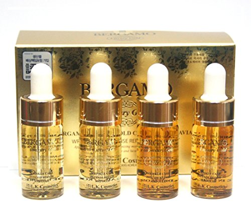 [ベルガモ] Bergamo/ラグジュアリーゴールドコラーゲン&キャビアリンクルケアアンプルセット13ml * 4ea/Luxury Gold Collagen & Caviar Wrinkle Care Repair Ampoule Set 13ml *