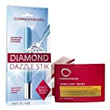 Connoisseurs Kit de Limpieza de Joyeria | Limpiador de Plata, Oro, Platino | Diamond Dazzle Stik & 25 Toallitas Limpiadoras | Protege y Limpia