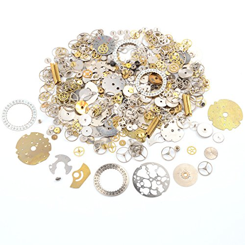 50 grams antique steampunk gear charms steampunk gear wheels, assorted and random, mixed cloors Great DIY gift for your friends,lovers or yourself to creat unique eye-catching DIY lucky charms,punk or cosplay style costume Suitable for steampunk proj...