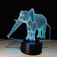 エレファント3Dノベルティライティングイリュージョンランプ7色変更タッチテーブルデスクLED3Dナイトライトキッズギフト家の装飾