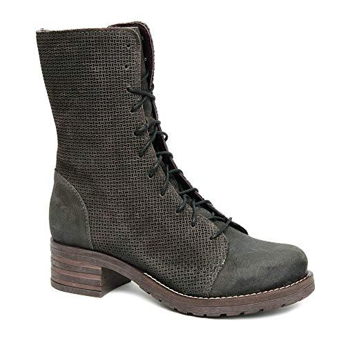 Brako Stiefel Boots 8470 Tina Antracita grau braun Military Nubuk Leder (39 EU)