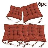 mnb43t 6 Cojines de Asiento 40x40cm, cómodos Cojines de Silla para Cojines de Silla para Interiores y Exteriores - decoración de Muebles de jardín de Cojines de Silla