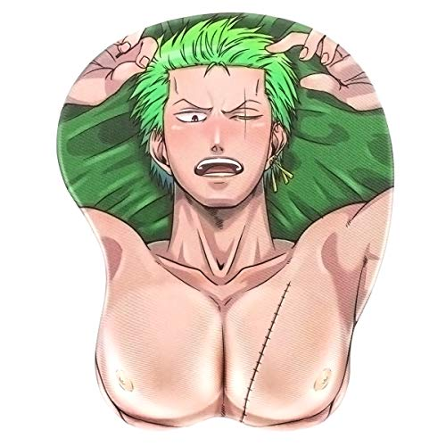 Sexy One P. 3D Hentai Mauspad | Ergonomische Handballenauflage | Motiv: Lorenor Zorro