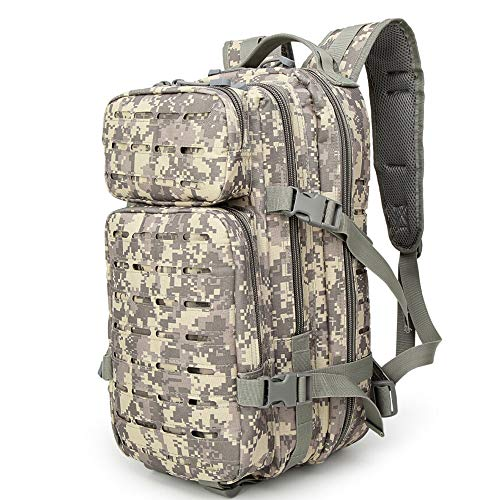 Greenpromise 30L Randonnée Sports Camo Escalade Sac Grande capacité Alpinisme Sac à Dos Tactique Militaire Sac à Dos, ACU Camouflage