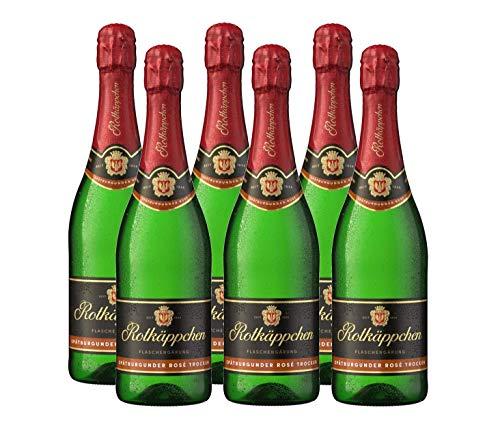 Rotkäppchen Sekt Flaschengärung Spätburgunder Rosé trocken 6 x 0,75l - Premiumsekt deutscher Weine – für besondere Momente/Weihnachten/ Geburtstage/ zum Anstoßen/ als Mitbringsel
