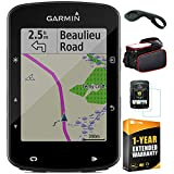 Garmin Edge 520 Plus Cycling GPS/GLONASS (010-02083-00) with Bike Mount for Garmin Edge, Bike Frame Cell Phone Mount, Tempered Glass Screen Protector & 1 Year Extended Warranty