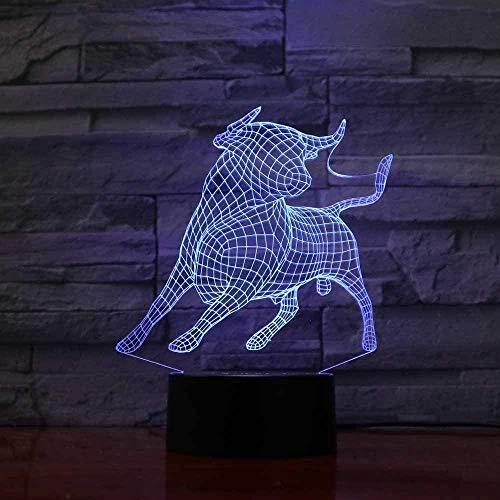 3D Ilusión Noche Luz Luz Nocturna Infantil Lámpara Caniche 7 Colores Cambio De Botón Táctil Y Ciclismo Regalo De Cumpleaños Para Decoración De Dormitorio