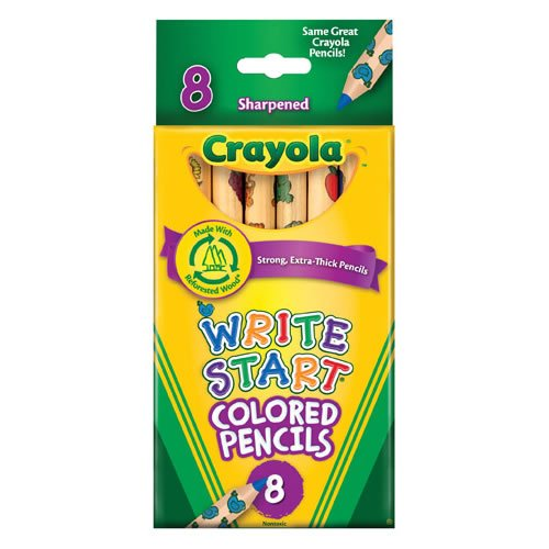 Crayola 8-Pack Write Start Colored Pencils Classpack (12 Boxes)