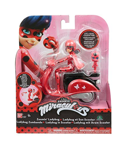 Giochi Preziosi - Miraculous Scooter con Personaggio Ladybug, 14 cm
