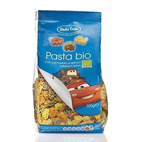DISNEY CARS - pasta BIOLOGICA di semola di grano duro con pomodoro e spinaci