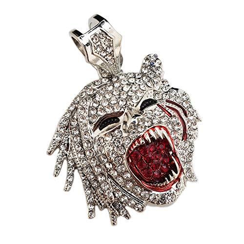 BLINGFACTORY Hip HOP ICED LAB Diamond White Gold Plated Half Man Half Beast Pendant