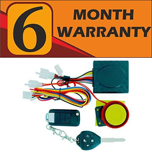 Otoroys 6 Months Warranty Motorcycle/Bike Alarm Security System Button Remote Key Anti-Theft Alarm Universal