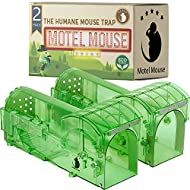 HUMANE MOUSE  for Indoors and Outdoors - Live Catch Release - Highly Sensitive and Secure - Pet and Child Safe - Reusable - Easy to Clean - Animal Eco Friendly - Capture Mice Alive - (2-Pack)