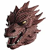 MASCARELLO Realistische Dragon Latex Tierkopf Monster Maske Halloween Kostüm Horror Scary Maskerade gruselig Kostüm