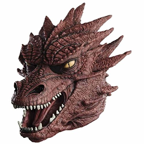 Dragon Head Mask Latex Animal Full Head Party Costumes Masks for Carnival Party Xmas Toy Red