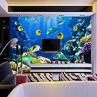 写真の壁紙3D立体空間カスタム大規模な壁紙の壁紙 熱帯魚リビングルーム現代リビングルームのテレビの背景寝室家の装飾壁画 -350X250cm(137 * 98インチ)