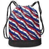 Ovilsm Cord Bag Sackpack Paraguay Flag 3D Art Pattern Drawstring Bag Rucksack Shoulder Bags Travel Sport Gym Bag Print - Yoga Runner Daypack Shoe Bags with Zipper and Pockets