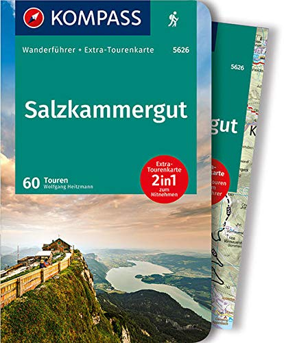 KOMPASS Wanderführer Salzkammergut: Wanderführer mit Extra-Tourenkarte 1:55.000, 60 Touren, GPX-Daten zum Download.