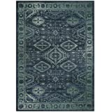 Maples Rugs Georgina Traditional Area Rugs for Living Room & Bedroom [Made in USA], 5 x 7, Navy Blue/Green