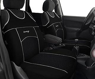 T-Shirt Active Sport Schwarz Vordersitzbezüge Kunstleder passend für VW T-ROC.