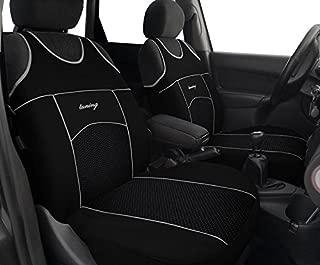 luxus Leder auto sitz abdeckung 4 Saison f/ür nissan note juke qashqai j10 almera n16 x-trail t31 navara d40 stil,Rot Vorne + Hinten