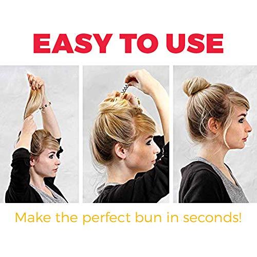 Hawwwy Spiral Bobby Pins 8 Pack Spin Pins, Easy & Fast Bun Maker Twist Hair Pins for Women Kids, Updo Hair Accessories, Messy Bun Tool, Perfect Small Bun Bobbypins Bobbie Fashion (Black 2 Inches)