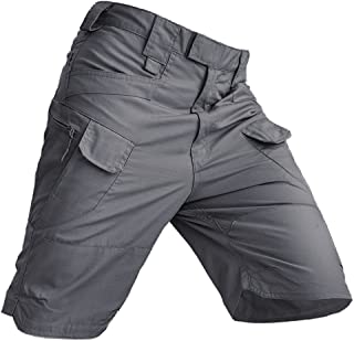 Men's Outdoor Waterproof Anti Scratch Shorts Casual Breathable with Zip Pockets Cargo Pants Lightweight Walking Shorts Tac...