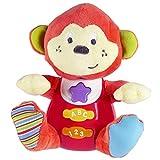 winfun - Peluche Mono para bebés que habla y luces de colores, Idioma: Español (85174)