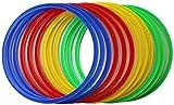 Boje Sport vx50 Set 12 Aros Flexibles, Juventud Unisex, 3X Rouge, 3X Bleu, 3X Vert, 3X Jaune, Aprox. 45 cm