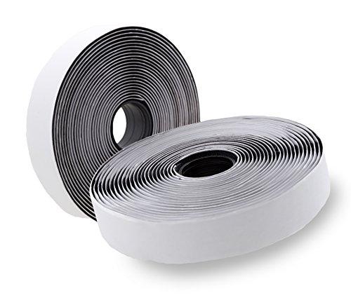 Klettband selbstklebend (5m lang, 2cm breit) für Fliegengitter, Schwarz