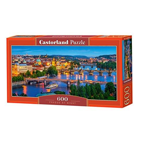 Castorland Prague at Night 600 pcs Puzzle - Rompecabezas (Puzzle rompecabezas, Ciudad, Niños, Niño/niña, 9 año(s), Interior) , color/modelo surtido
