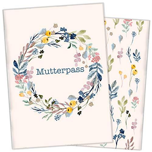 Cozy Racoon 3-teilige Mutterpasshülle für den deutschen Mutterpass | Hochwertige Hülle für deinen Mutterpass | Design Flower Circle (ohne Personalisierung)