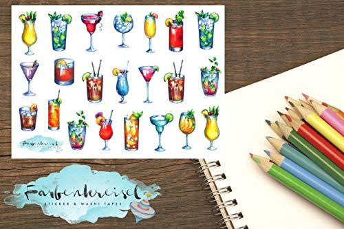 Sizzix Thinlits Stanzschablonen 24 Stk 664435 Einheitsgr/ö/ße Mehrfarben Happy Hour Cocktails von Tim Holtz