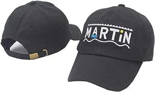 Martin Embroidered Baseball Cap Unisex Snapback Hat Cotton Adjustable Dad Hat for Men Women