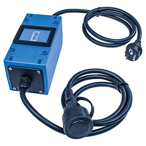as - Schwabe MIXO Stromzähler Zwischenzähler 230 V – MID geeichter Stromzähler mit Rücklaufsperre, verplombt – Zwischenstecker Box mit Schuko-Stecker & Schuko-Kupplung – IP44 – Made in Germany I 61747