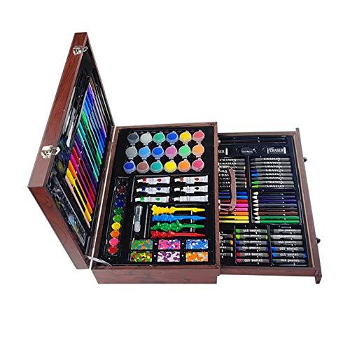 LINPAN Conjuntos de Arte 130 Piezas de Conjunto del Arte de la Escuela de Arte de Lujo de Escritorio Creatividad Dibujo Kit for Principiantes y Junior Artistas niños y los niños Regalo para los